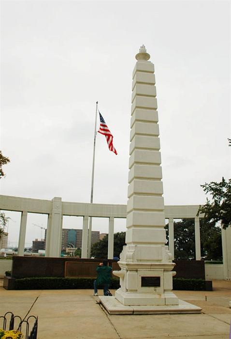 達拉斯城最早之地的紀念碑