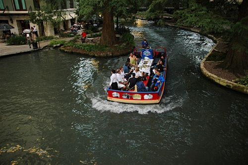 聖安東尼奧市中的riverwalk,這條河叫聖安東尼奧河