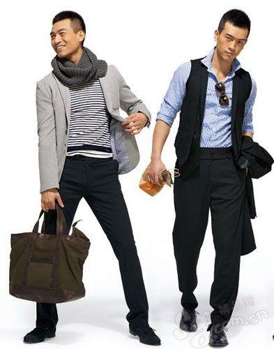 休闲西装+针织衫+正装西裤-正装休闲时刻 职场男士时尚搭配